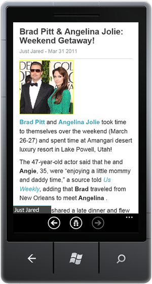 RSS/News Reader for WP7